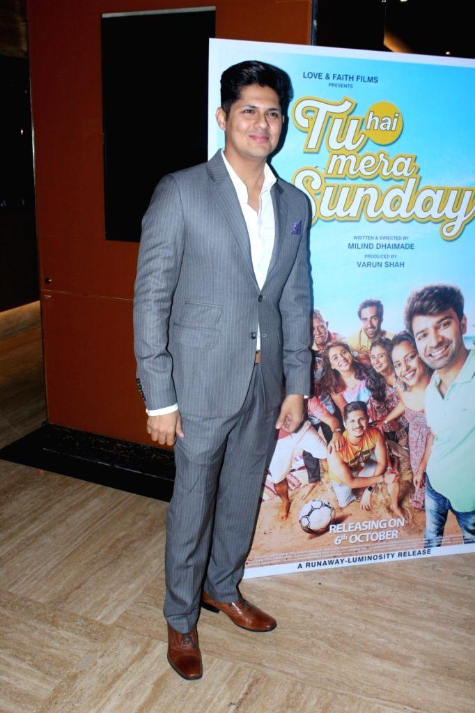 "Actor Vishal Malhotra during the trailer launch of her upcoming film ""Tu hai Mera Sunday"" in Mumbai on Sept 6, 2017. - Vishal Malhotra"