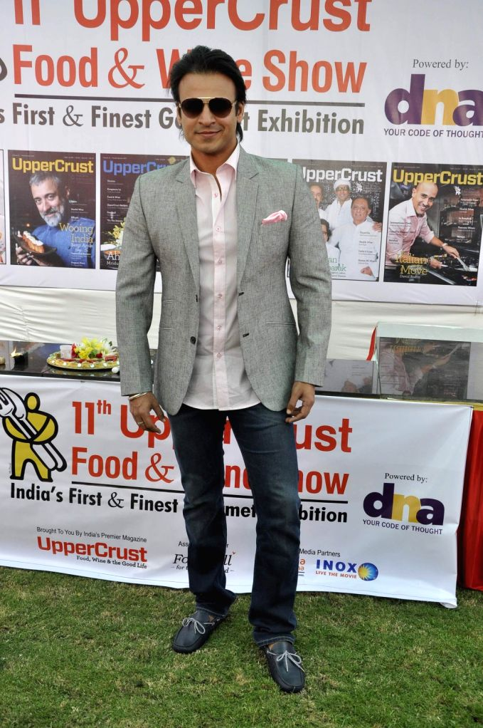 Actor Vivek Obero during the 11th UpperCrust Food and Wine Show in Mumbai on Dec.6, 2013. - Vivek Obero