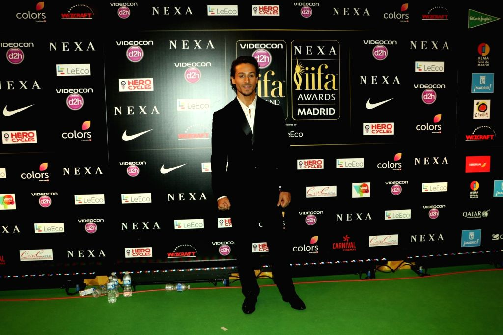 Actor Vivek Oberoi and wife during IIFA Awards in Madrid on June 26, 2016. - Vivek Oberoi