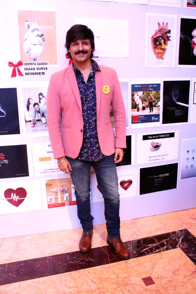 Actor Vivek Oberoi during a programme organised to celebrate 'World No Tobacco Day', in Mumbai on May 30, 2018. - Vivek Oberoi