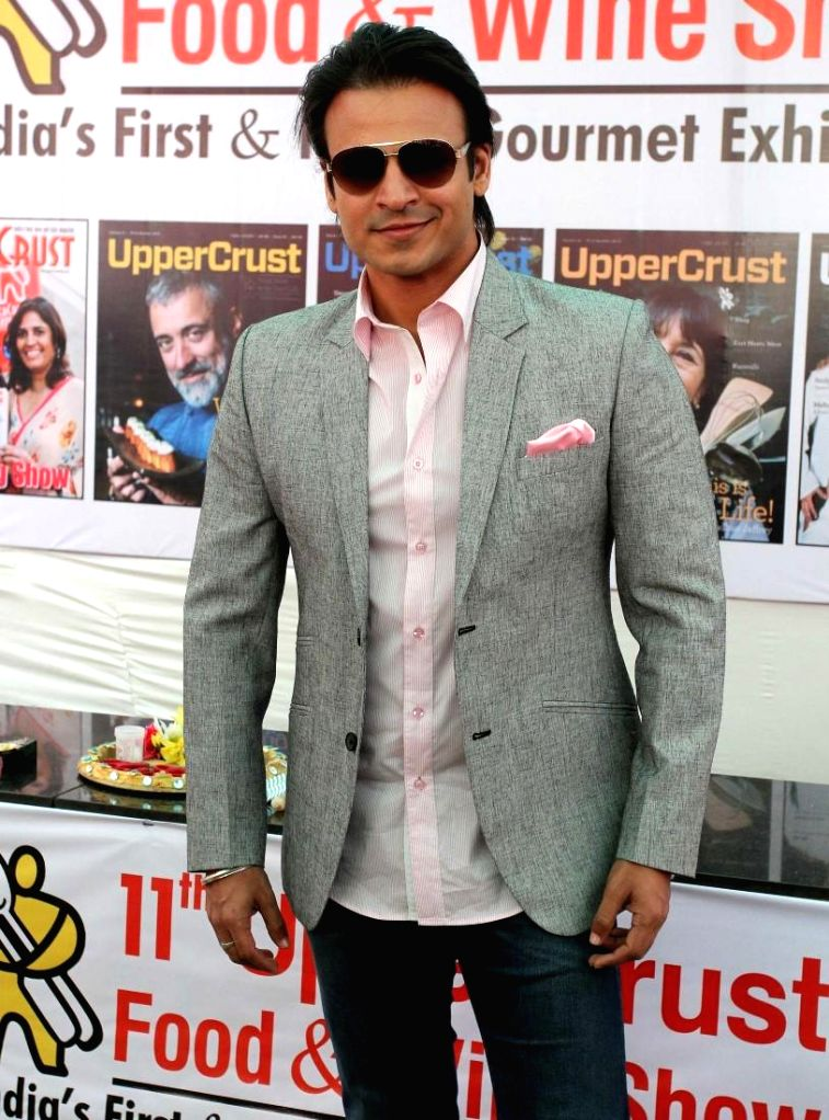 Actor Vivek Oberoi during the 11th UpperCrust Food and Wine Show in Mumbai on Dec.6, 2013. - Vivek Oberoi