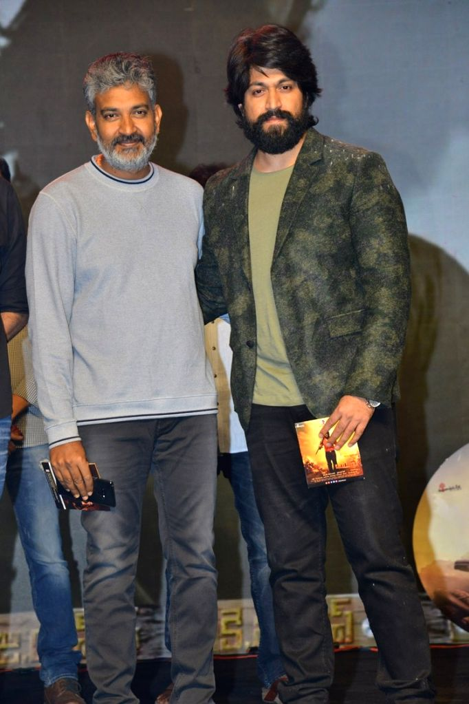 Actor Yash and director SS Rajamouli pre release function stills - Film KGF . - Yash