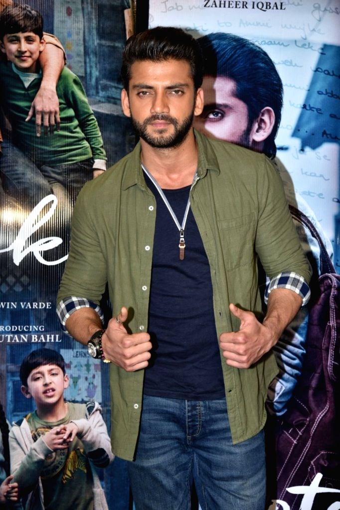 "Actor Zaheer Iqbal at trailer preview of his upcoming film the ""Notebook"" in Mumbai, on Feb 21, 2019. - Zaheer Iqbal"