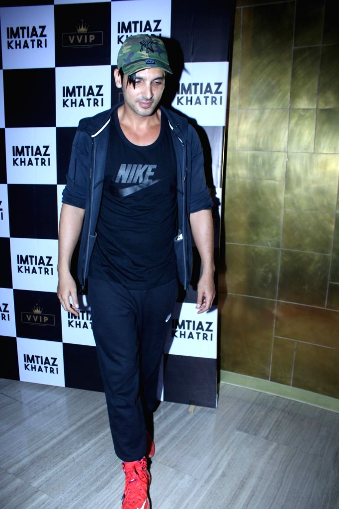 Actor Zaid Khan at producer Imtiaz Khatri's birthday bash in Mumbai on Sept 9, 2017. - Zaid Khan