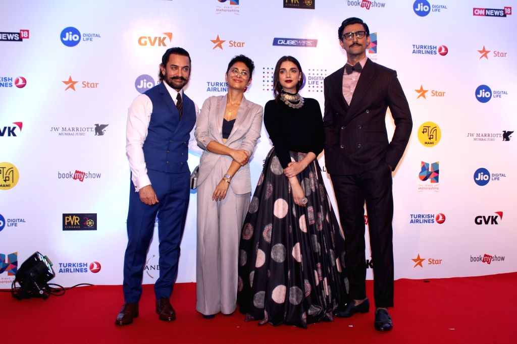 Actors Aamir Khan, Aditi Rao Hydari, Kunal kapoor and Producer Kiran Rao at Mami Movie Mela 2017 in Mumbai on Oct 12, 2017. - Aamir Khan, Aditi Rao Hydari, Kunal and Kiran Rao
