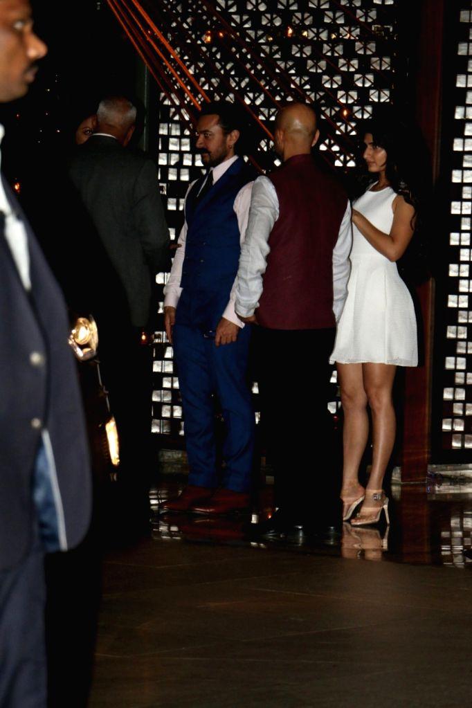 Actors Aamir Khan and Fatima Sana Shaikh at Nita Ambani's residence for Diwali celebration in Mumbai on Oct 12, 2017. - Aamir Khan, Fatima Sana Shaikh and Nita Ambani