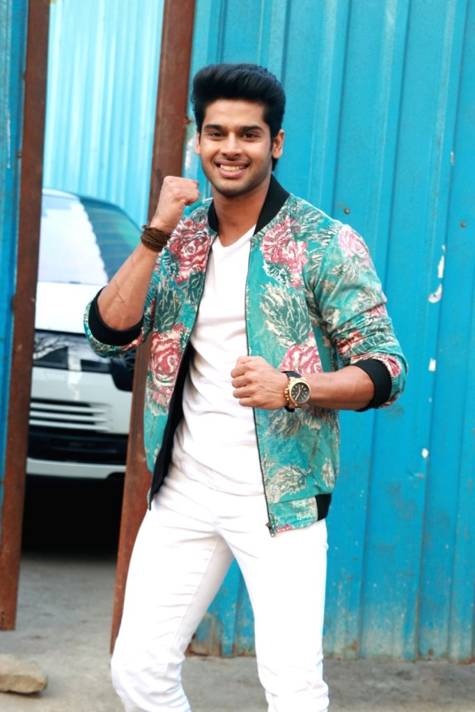 """Actors Abhimanyu Dassani during the promotions of their upcoming film """"Nikamma"""" on the sets of reality television show Bigg Boss 13, in Mumbai on Feb 7, 2020. - Abhimanyu Dassani"""