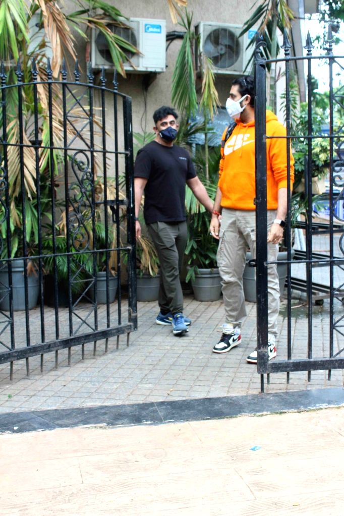 Actors Abhishek Bachchan and Amit Sadh seen at a dubbing studio in Mumbai's Juhu on June 28, 2020. - Abhishek Bachchan and Amit Sadh