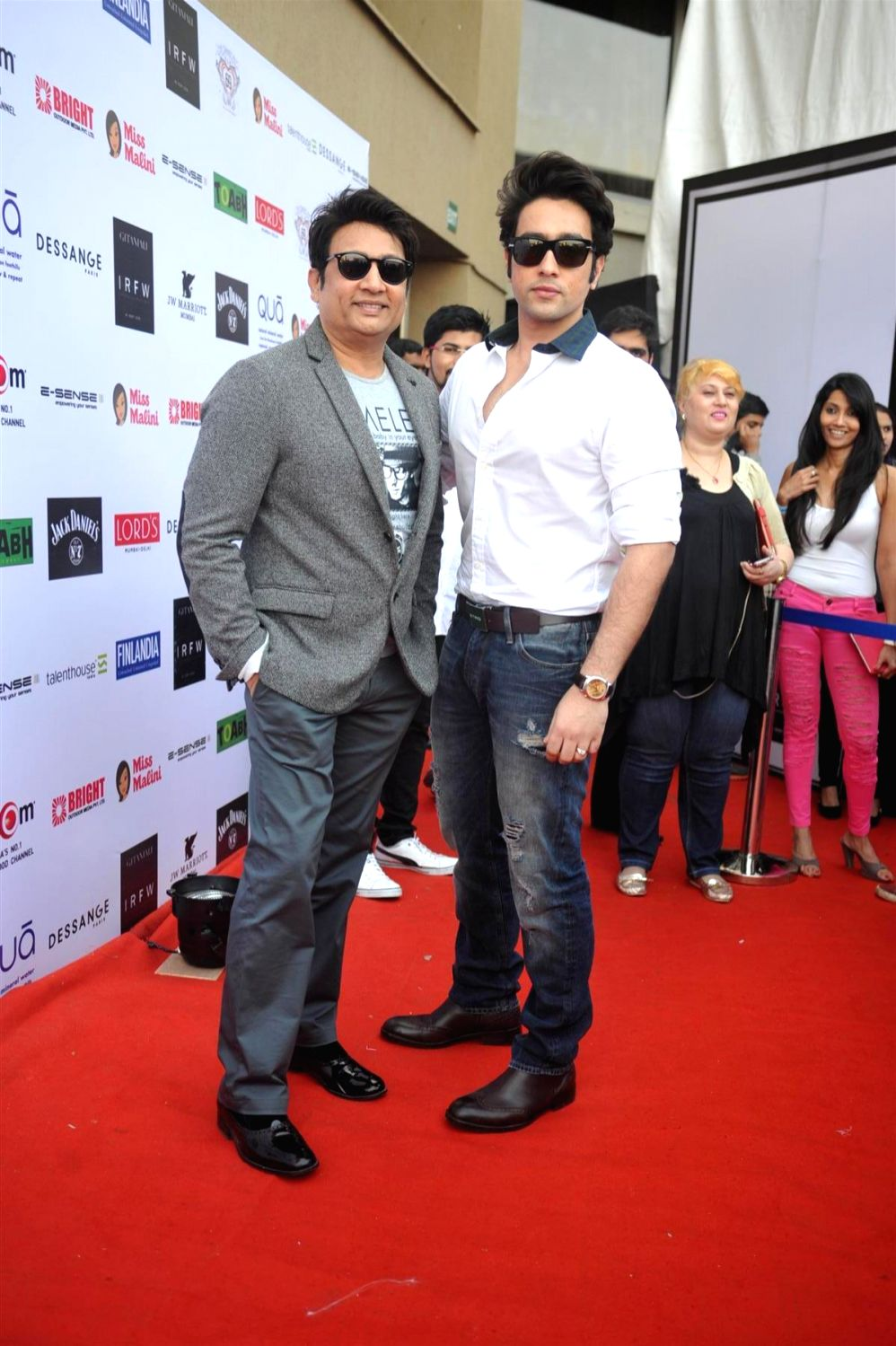 Actors Adhyayan Suman and Shekhar Suman at the 3rd Edition of India Resortwear Fashion Week (IRFW) 2013 in Mumbai on December 13, 2013. - Adhyayan Suman and Shekhar Suman