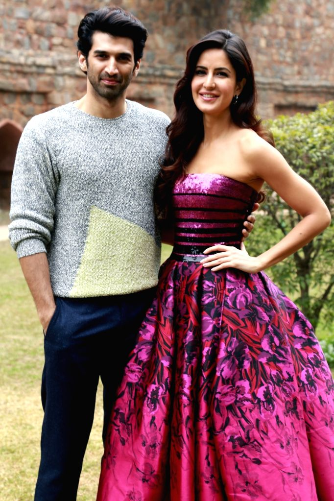 Actors Aditya Roy Kapur and Katrina Kaif during the promotion of their upcoming film  'Fitoor', in New Delhi on Jan 15,2016. - Aditya Roy Kapur and Katrina Kaif