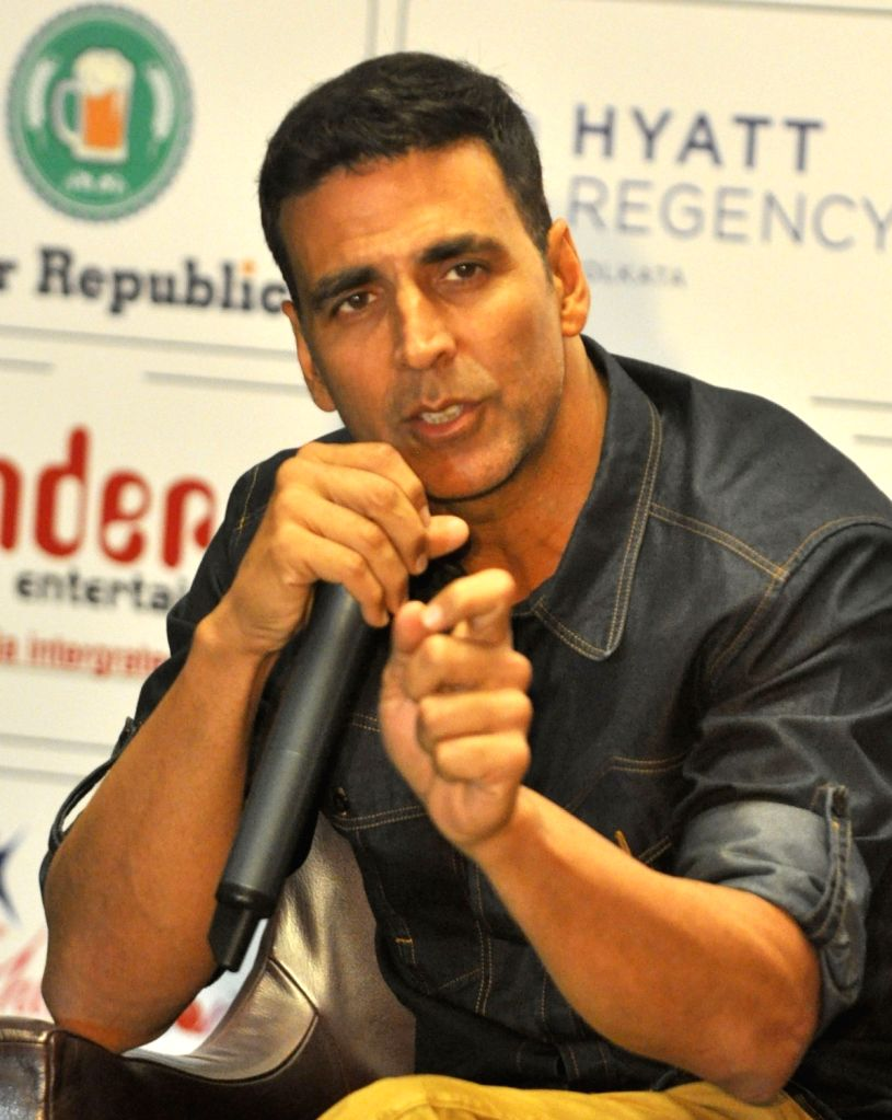 Actors Akshay Kumar  during promotion of his upcoming film`Airlift` in Kolkata, on Jan 14, 2016. - Akshay Kumar