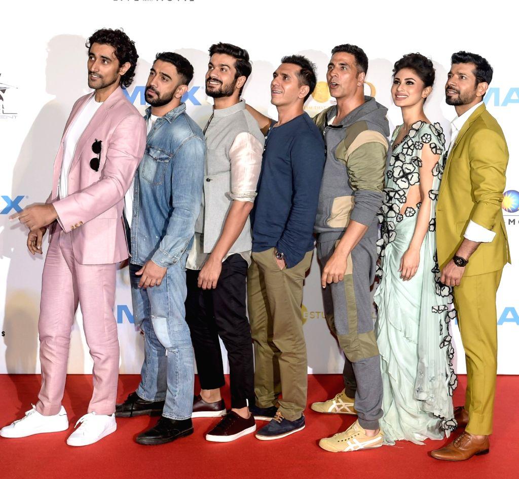 "Actors Akshay Kumar, Mouni Roy, Vineet Kumar Singh, Amit Sadh, Kunal Kapoor and Sunny Kaushal at the IMAX trailer and poster launch of their upcoming film ""Gold"" in Mumbai on August ... - Akshay Kumar, Mouni Roy, Vineet Kumar Singh, Amit Sadh, Kunal Kapoor and Sunny Kaushal"