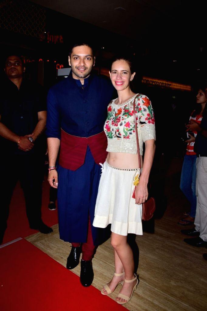 "Actors Ali Fazal and Kalki Koechlin during the special screening of film ""Victoria & Abdul"" in Mumbai on Oct 5, 2017. - Ali Fazal and Kalki Koechlin"