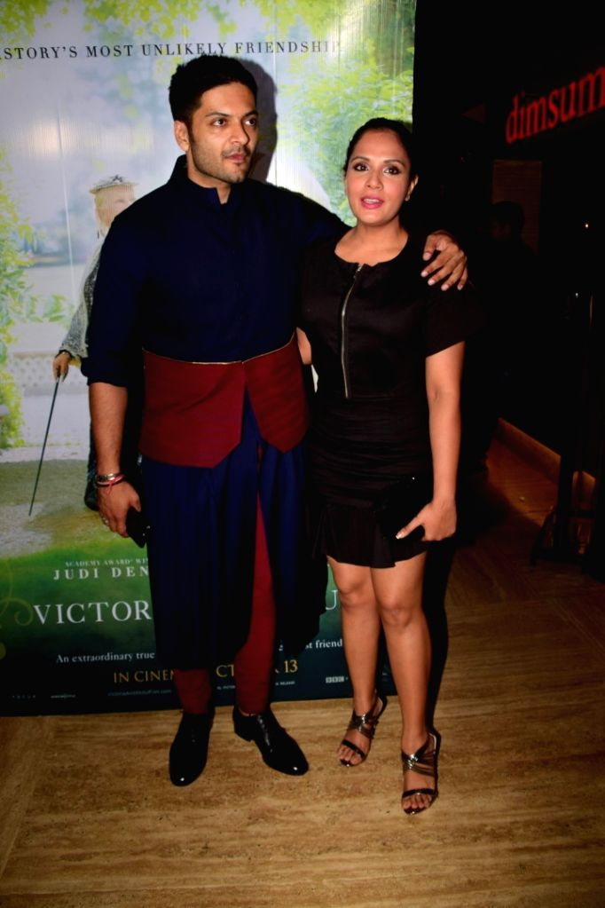 "Actors Ali Fazal and Richa Chadda during the special screening of film ""Victoria & Abdul"" in Mumbai on Oct 5, 2017. - Ali Fazal and Richa Chadda"