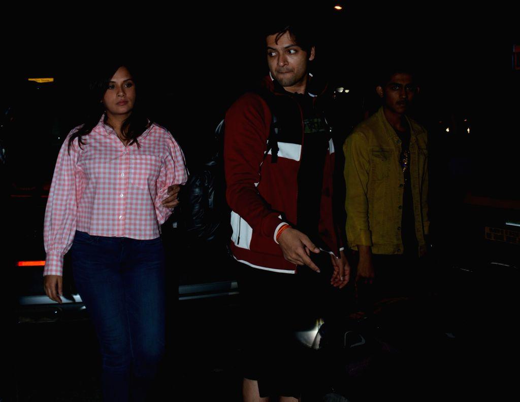 Actors Ali Fazal and Richa Chadda seen at Mumbai's Juhu, on Jan 29, 2019. - Ali Fazal and Richa Chadda