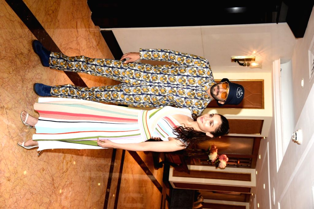 """Actors Alia Bhatt and Ranveer Singh at the promotional interview of their upcoming film """"Gully Boy"""" in Mumbai, on Feb 6, 2019. - Alia Bhatt and Ranveer Singh"""
