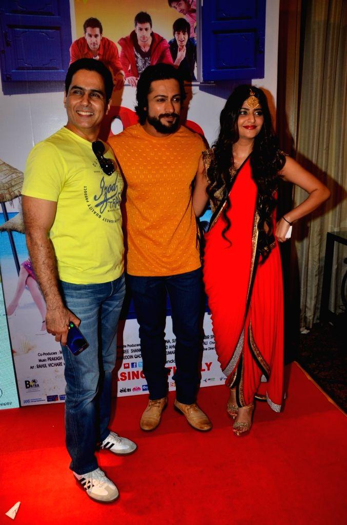 Actors Aman Verma, Sufi Gulati and Shaleen Bhanot during the audio launch of film Love Ke Funday, in Mumbai on June 22, 2016. - Aman Verma, Sufi Gulati and Shaleen Bhanot