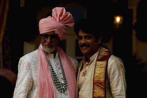 Actors Amitabh Bachchan and Akkineni Nagarjuna during Kalyan Jewellers ad shoot in Mumbai on Jan 24, 2020. - Amitabh Bachchan and Akkineni Nagarjuna