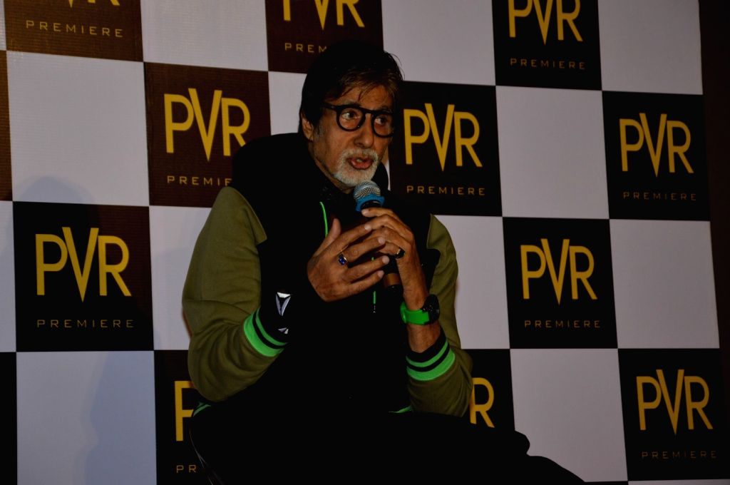 Actors Amitabh Bachchan during Press Conference for 40 years completion of iconic film Sholay in Mumbai. - Amitabh Bachchan
