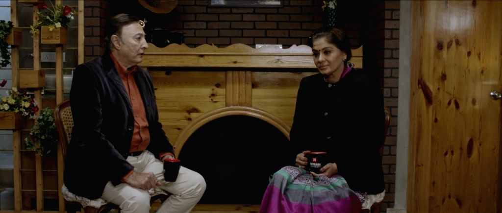 Actors Anang Desai and Sudha Chandran in one of the stills from 'Sifar' - starring National Award winner Sudha Chandran, Anang Desai, former Miss Asia Kanikka Kapur and Varun Narula - has been ... - Anang Desai and Sudha Chandran