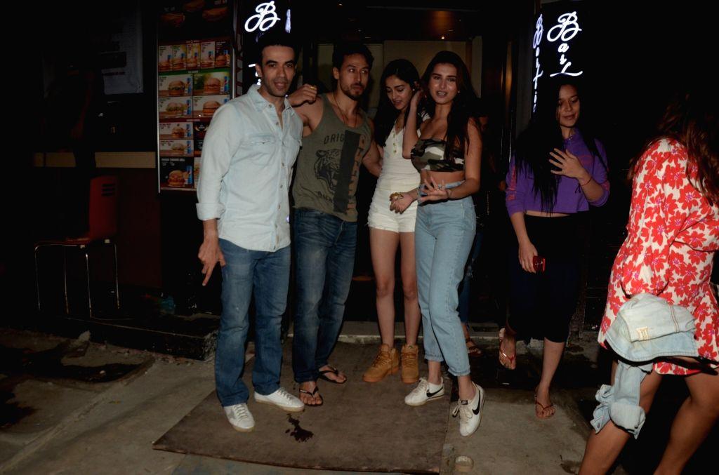 Actors Ananya Pandey, Tiger Shroff, Punit Malhotra and Tara Sutaria seen in Mumbai's Bandra, on May 12, 2019. - Ananya Pandey, Tiger Shroff, Punit Malhotra and Tara Sutaria