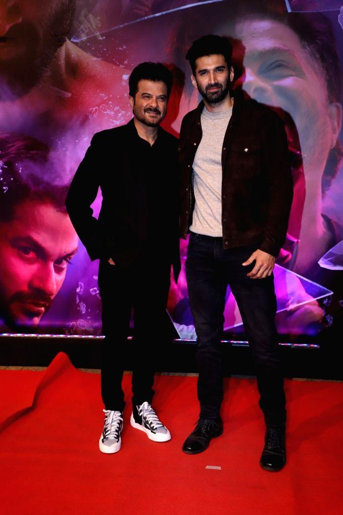 "Actors Anil Kapoor and Aditya Roy Kapur at the screening of film ""Malang"" at PVR Juhu, in Mumbai on Jan 26, 2020. - Anil Kapoor and Aditya Roy Kapur"