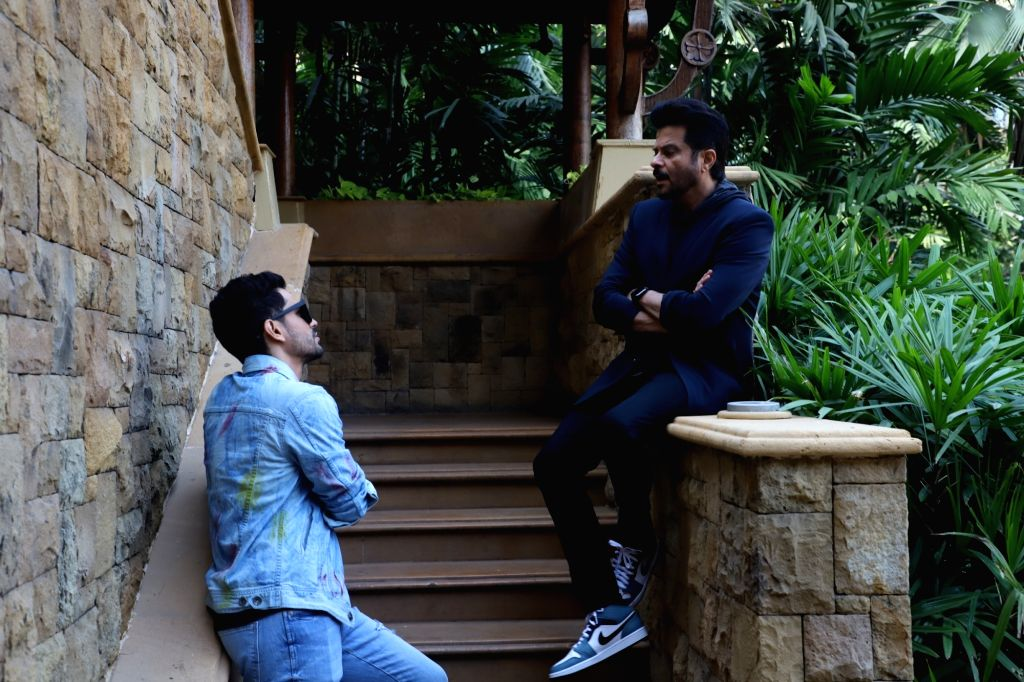 """Actors Anil Kapoor and Kunal Khemu during the promotions of their upcoming film """"Malang"""" in Mumbai on Feb 5, 2020. - Anil Kapoor and Kunal Khemu"""