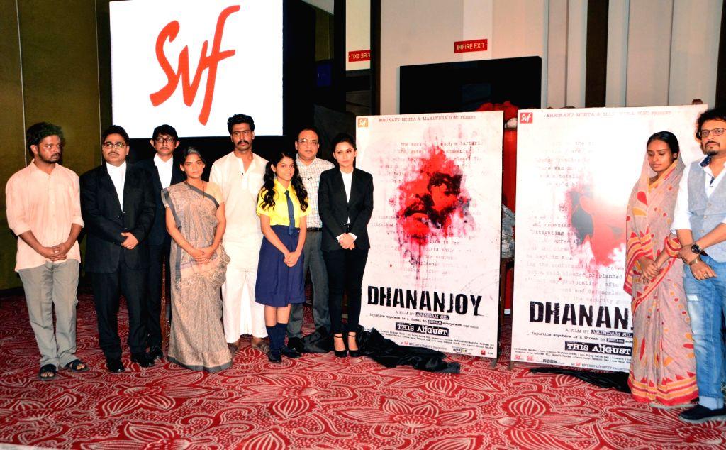 "Actors Anirban Bhattacharya, Mimi Chakraborty, Kanchan Mullick, Sudipta Chakraborty and Mir Afsar Ali at the trailer launch of filmmaker Arindam Sil upcoming film ""Dhananjay"" in ... - Anirban Bhattacharya, Mimi Chakraborty, Kanchan Mullick, Sudipta Chakraborty and Mir Afsar Ali"