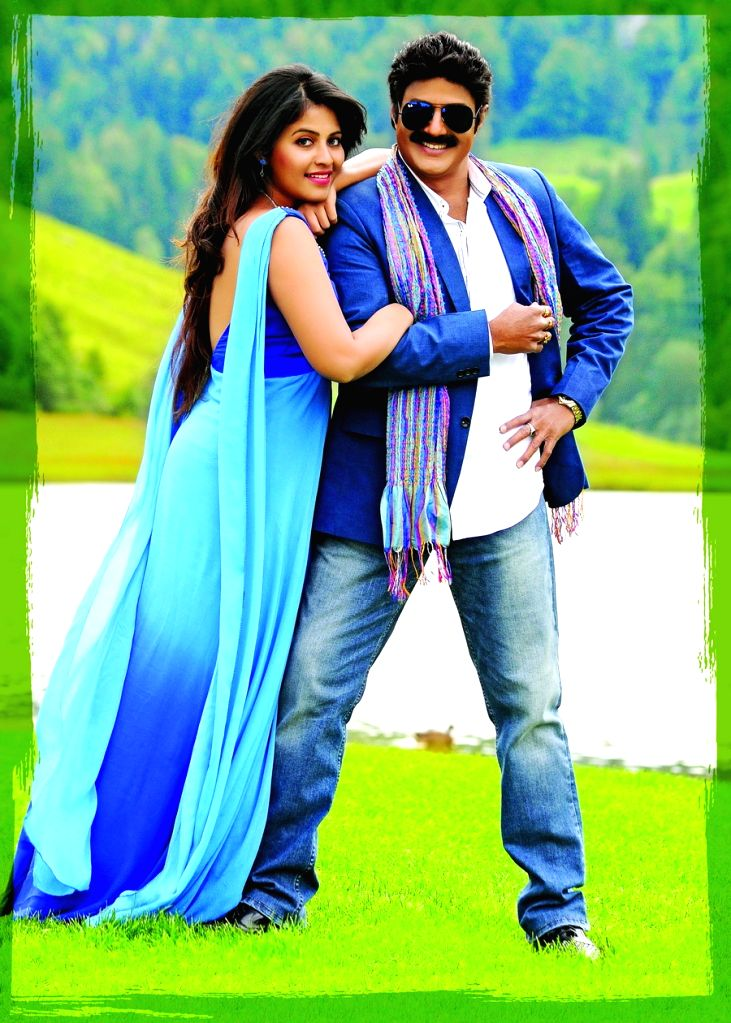 Actors Anjali ans Nandamuri Balakrishna stills from Telugu film `Dictator`. - Anjali