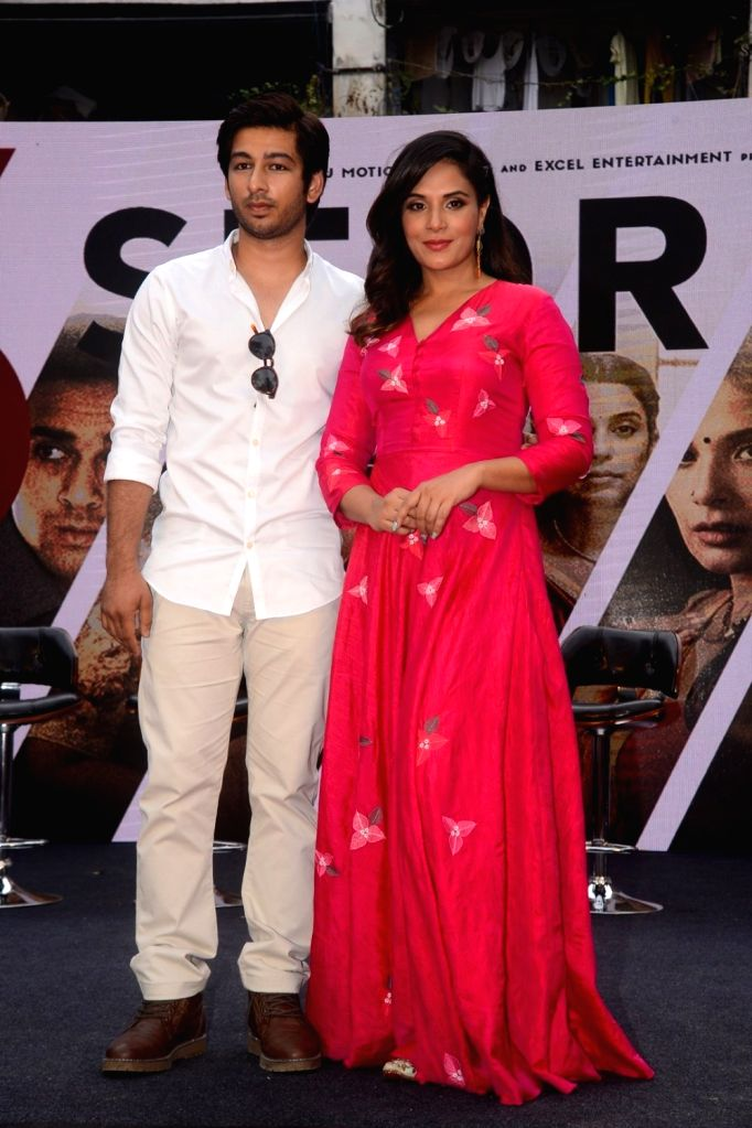 """Actors Ankit Rathi and Richa Chadha at the trailer launch of their upcoming film """"3 Storeys"""" in Mumbai on Feb 7, 2018. - Ankit Rathi and Richa Chadha"""