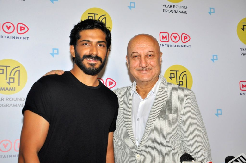 """Actors Anupam Kher AND Harshvardhan Kapoor during the screeing of Film """"The Big Sick"""" in Mumbai,on June 28, 2017. - Anupam Kher A and Harshvardhan Kapoor"""