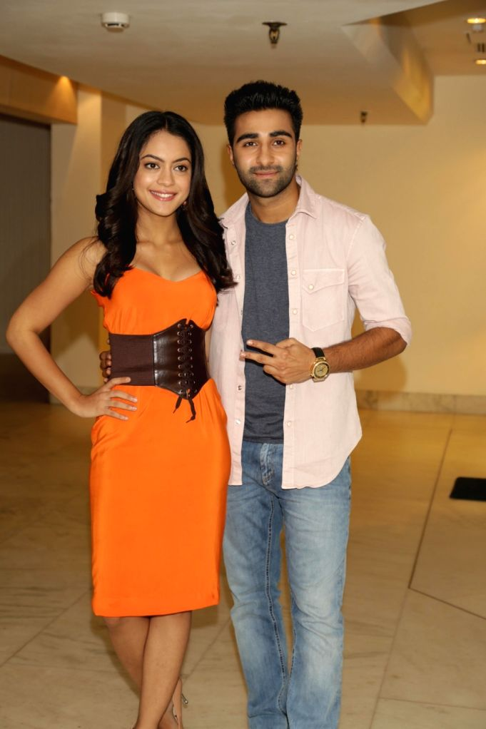 "Actors Anya Singh and Aadar Jain during a press conference to promote their upcoming film ""Qaidi Band"" in New Delhi on Aug 16, 2017. - Anya Singh and Aadar Jain"