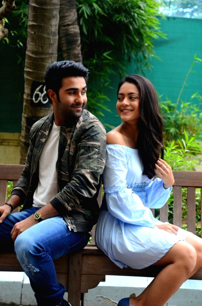 "Actors Anya Singh and Aadar Jain during the promotion of their upcoming film ""Qaidi Band"" in Mumbai on Aug 11, 2017. - Anya Singh and Aadar Jain"
