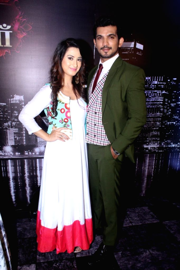 "Actors Arjun Bijlani and Aalisha Panwar during the launch of colors new TV Show ""Ishq Mein Marjawan"" in Mumbai on Sept 18, 2017. - Arjun Bijlani and Aalisha Panwar"
