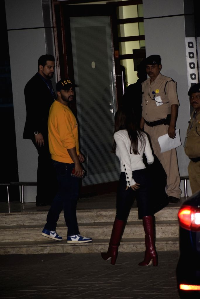Actors Arjun Kapoor and Malaika Arora leave for a pre-wedding bash in Switzerland for Reliance Industries Chairman Mukesh Ambani's son Akash Ambani and diamantaire Russell Mehta's daughter ... - Arjun Kapoor, Malaika Arora, Mukesh Ambani, Akash Ambani and Shloka Mehta