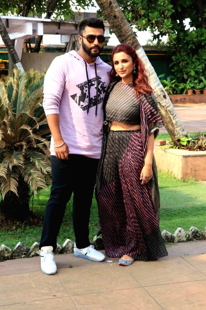 "Actors Arjun Kapoor and Parineeti Chopra during the promotion of their upcoming film ""Namaste England"" in Mumbai on Oct 4, 2018. - Arjun Kapoor and Parineeti Chopra"
