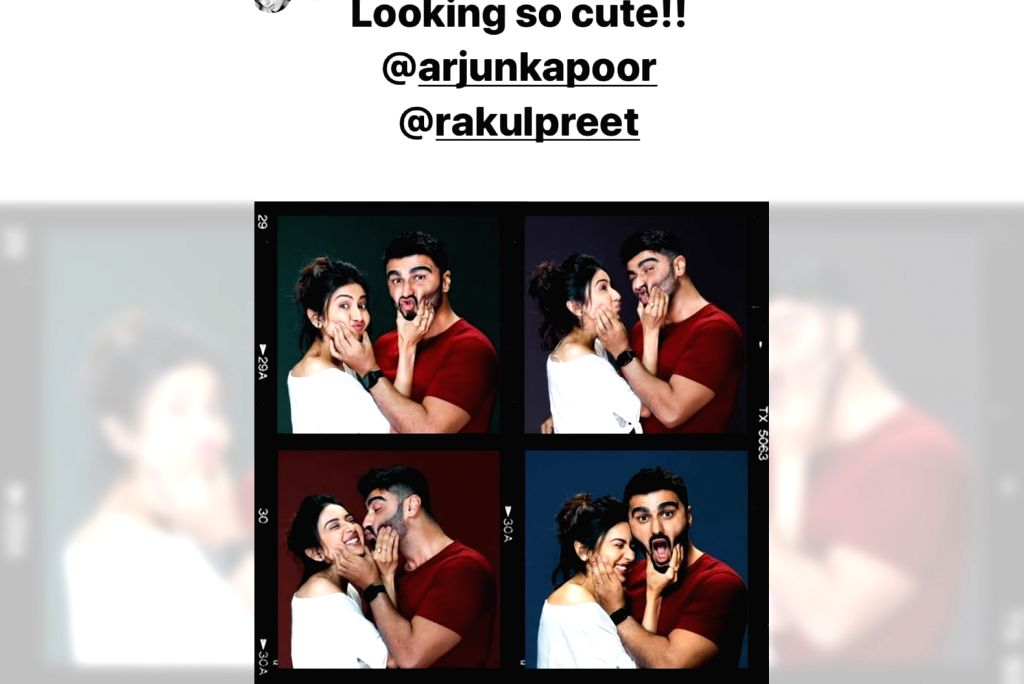 """Actors Arjun Kapoor and Rakul Preet Singh have started shooting for their rom-com film, and they are already being praised for looking """"cute"""" together. - Arjun Kapoor and Rakul Preet Singh"""