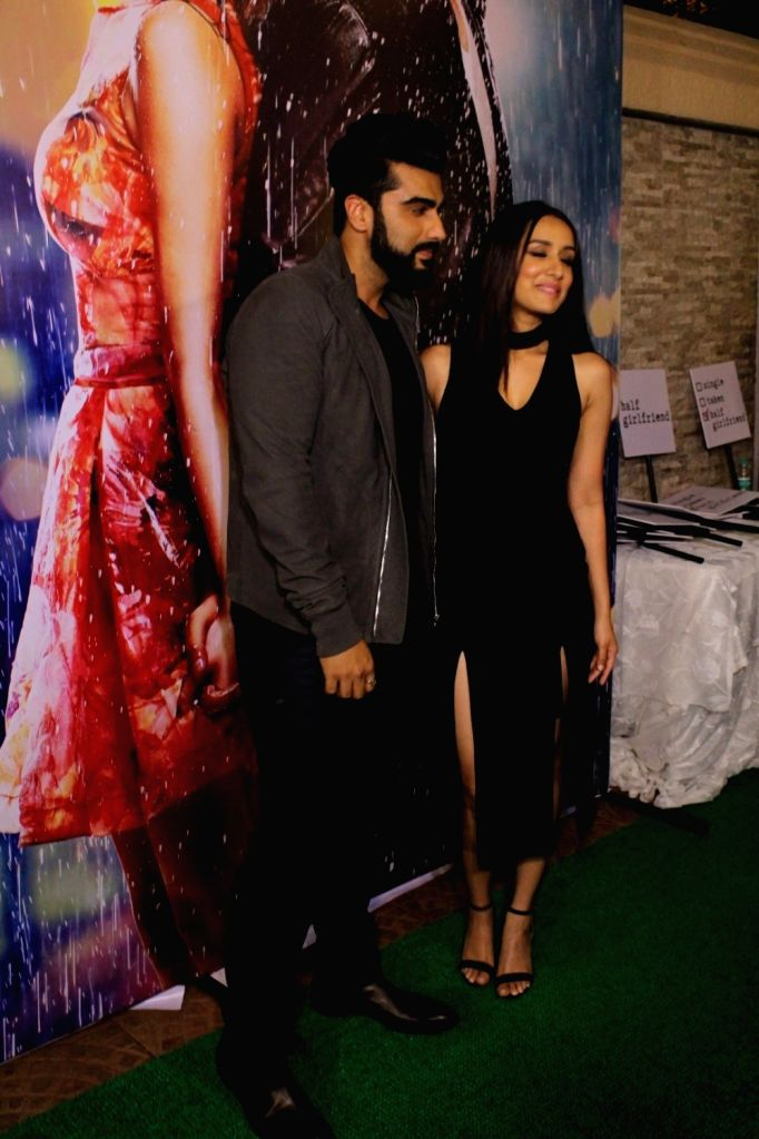 Actors Arjun Kapoor and Shraddha Kapoor during the success party of film Half Girlfriend in Mumbai on May 26, 2017. - Arjun Kapoor and Shraddha Kapoor