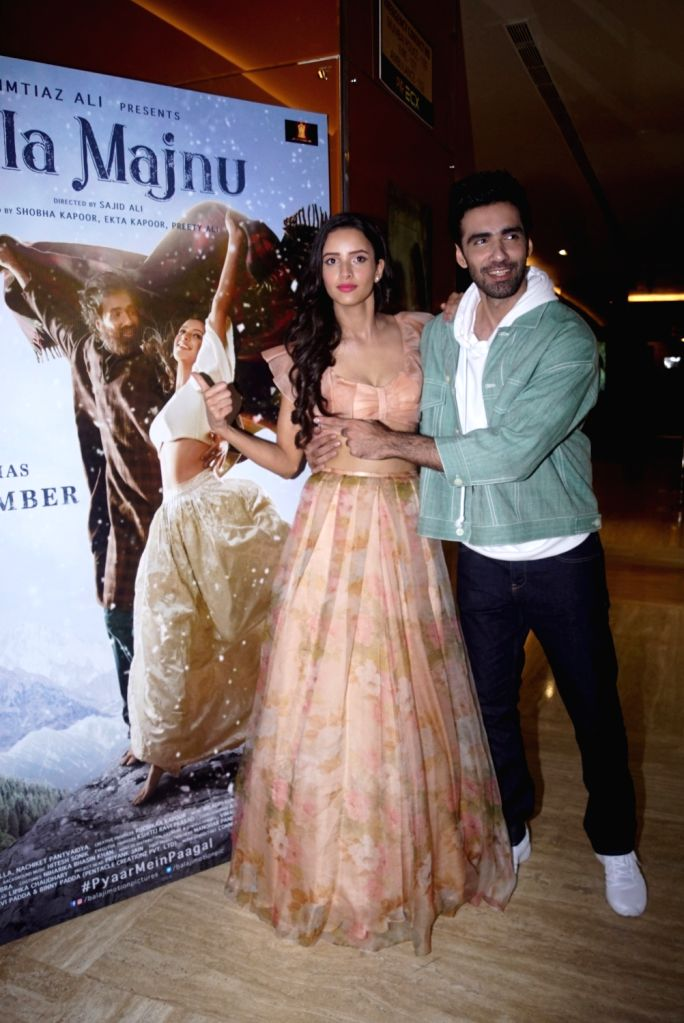 """Actors Avinash Tiwary and Tripti Dimri at the trailer launch of their upcoming film """"Laila Majnu"""" in Mumbai on Aug 7, 2018. - Avinash Tiwary and Tripti Dimri"""