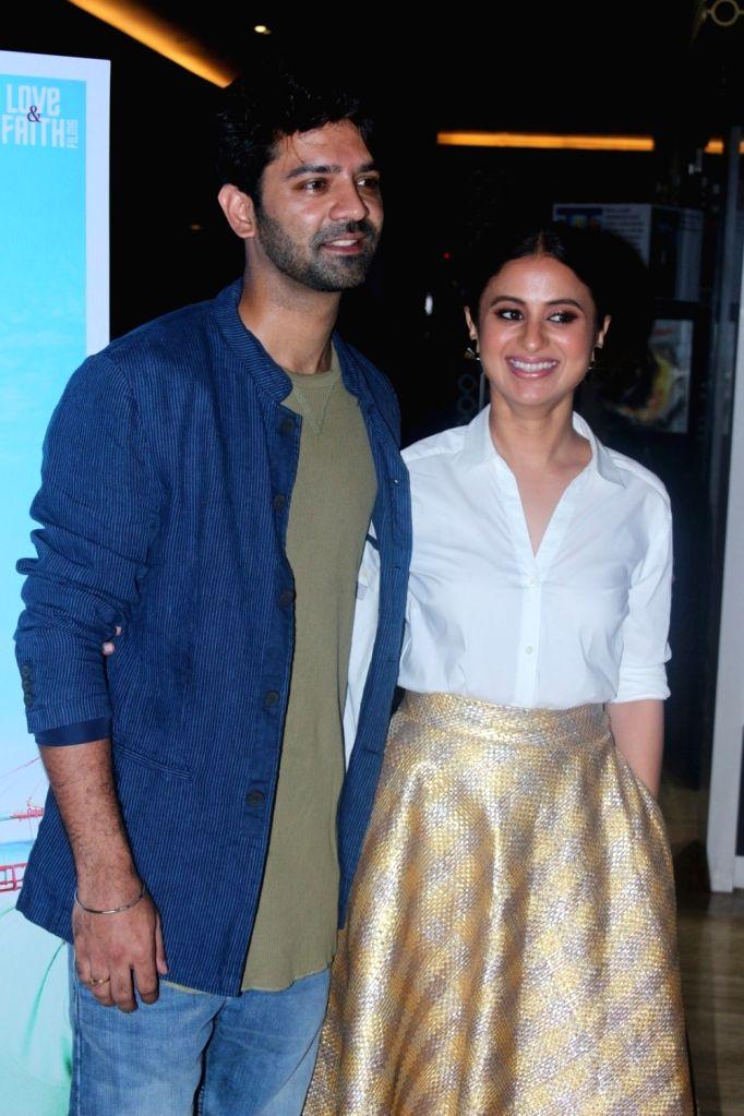 "Actors Barun Sobti and Rasika Dugal during the trailer launch of their upcoming film ""Tu hai Mera Sunday"" in Mumbai on Sept 6, 2017. - Barun Sobti and Rasika Dugal"