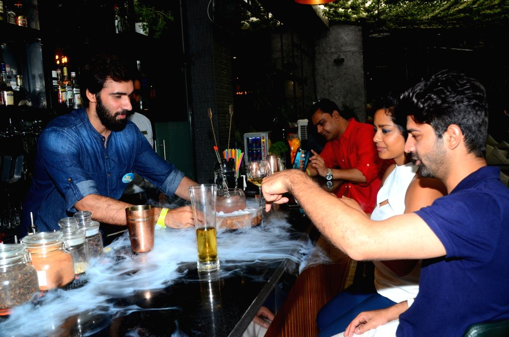 "Actors Barun Sobti and Shahana Goswami during the promotion of their upcoming film ""Tu Hai Mera Sunday"" in Mumbai on Sept 17, 2017. - Barun Sobti and Shahana Goswami"