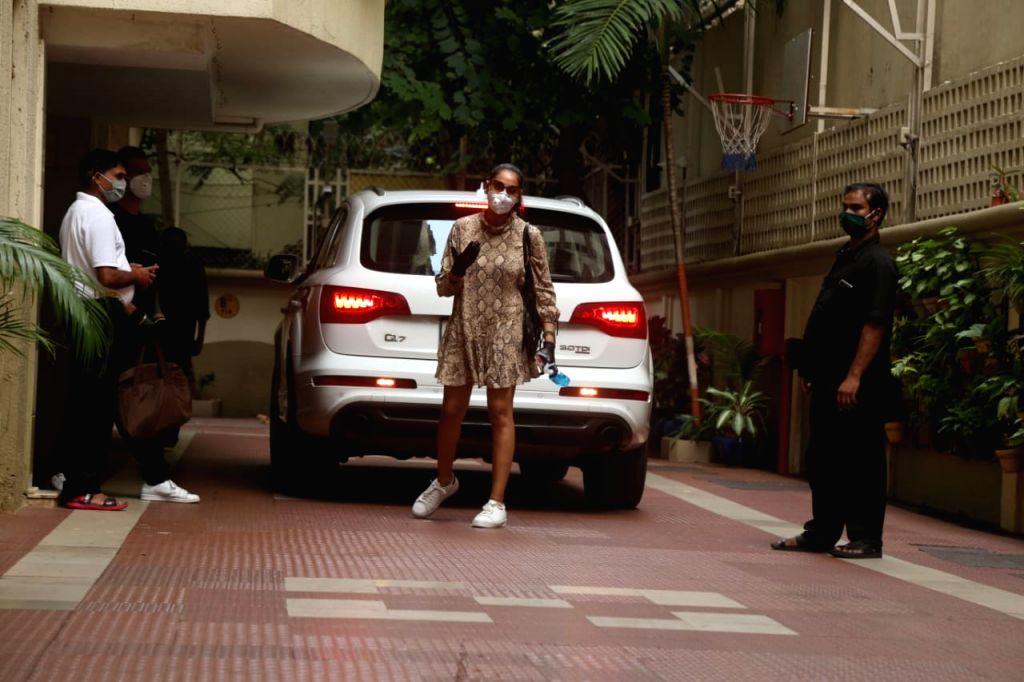 Actors Bipasha Basu & Karan Singh Grover seen at Bandra in Mumbai on Oct 20, 2020. - Bipasha Basu and Karan Singh Grover