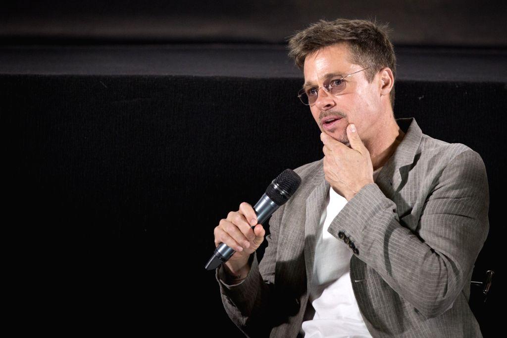 Actors Brad Pitt during a programme in Mumbai on May 24, 2017. - Brad Pitt