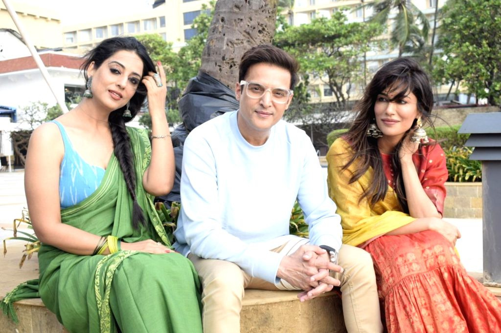 "Actors Chitrangada Singh, Jimmy Sheirgill and Mahi Gill during promotions of their upcoming film ""Saheb, Biwi Aur Gangster 3"", in Mumbai on July 19, 2018. - Chitrangada Singh, Jimmy Sheirgill and Mahi Gill"