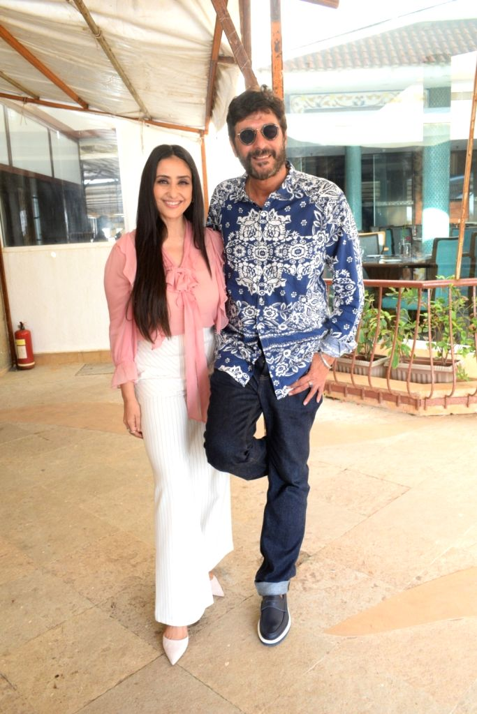 "Actors Chunky Pandey and Manisha Koirala at the promotion of their upcoming film ""Prasthanam in Mumbai, on Aug 26, 2019. - Chunky Pandey and Manisha Koirala"