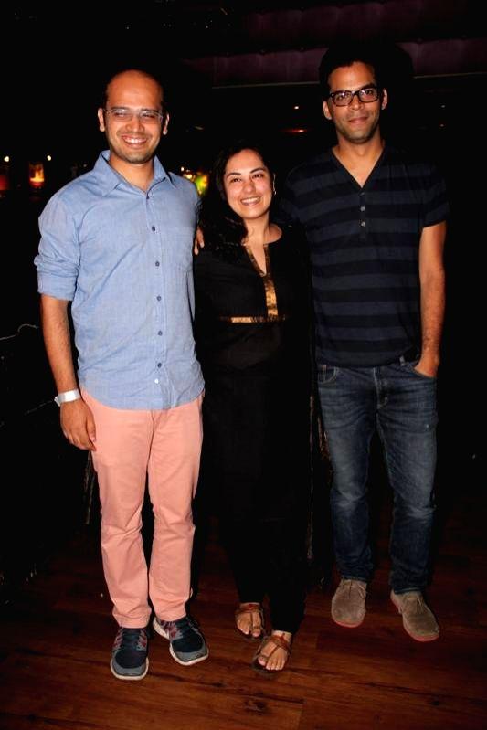 Actors Deepti, Fahad and Vikramaditya Motwane during the music launch of film Katiyabaaz in Mumbai on Aug 11, 2014. - Deepti, Fahad and Vikramaditya Motwane