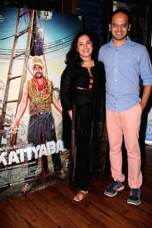 Actors Deepti Kakkar and Fahad Mustafa during the music launch of film Katiyabaaz in Mumbai on Aug 11, 2014. - Deepti Kakkar and Fahad Mustafa