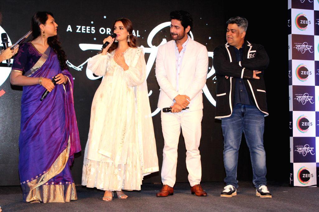 "Actors Dia Mirza and Mohit Raina, director Sonam Nair and producer Siddharth P Malhotra at a press conference of their upcoming webshow ""Kaafir"" by Zee5, in Mumbai on June 6, 2019. - Sonam Nair, Dia Mirza, Mohit Raina and Siddharth P Malhotra"