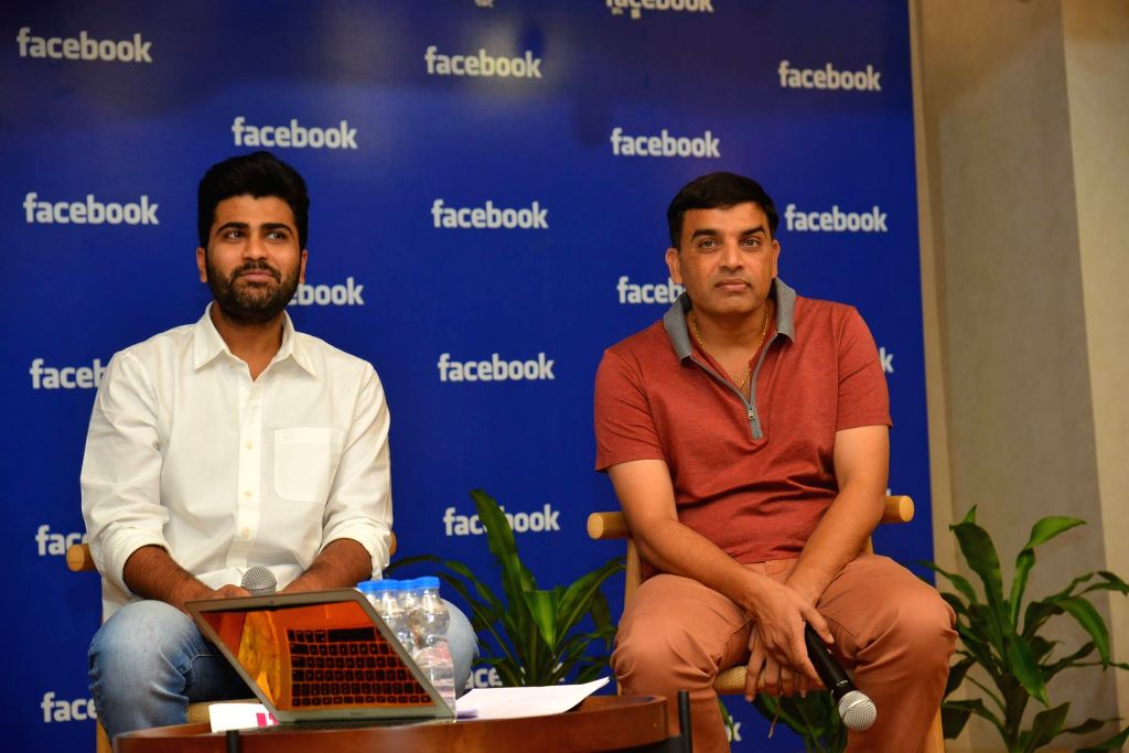 Actors Dil Raju and Sharvanand at Facebook Office in Hyderabad on Jan 12, 2017 - Dil Raju and Sharvanand