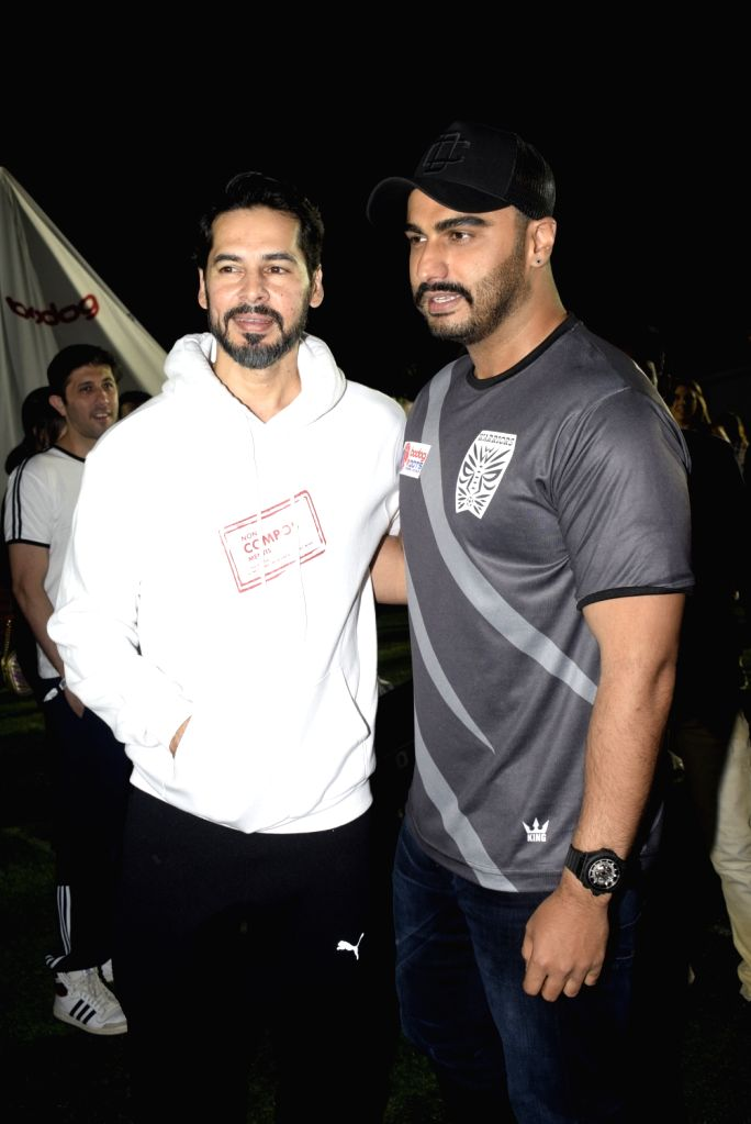 Actors  Dino Morea and Arjun Kapoor at Roots Premier League Spring Season 2019, in Mumbai, on March 9, 2019. - Dino Morea and Arjun Kapoor